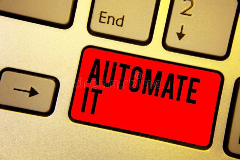 Handskrifttexthandstil automatiserar det Process eller lätthet för begreppsbetydelseomvänd som är fungeringsautomatisk utrustning stock illustrationer