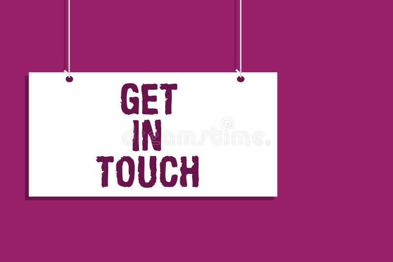Handskrifttexthandstil får i handlag Begreppsbetydelsestaget i kontakten Constant Communication Interaction Bonding Hanging stige stock illustrationer
