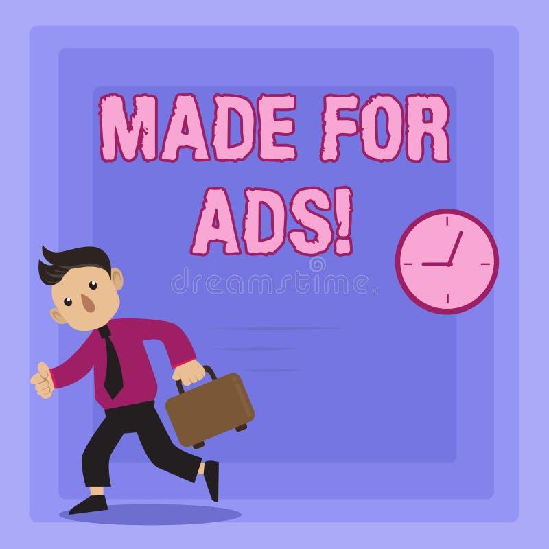 Handskrifttexthandstil som göras för annonser Designer för strategier för begreppsbetydelsemarknadsföring för promotionals för en royaltyfri illustrationer