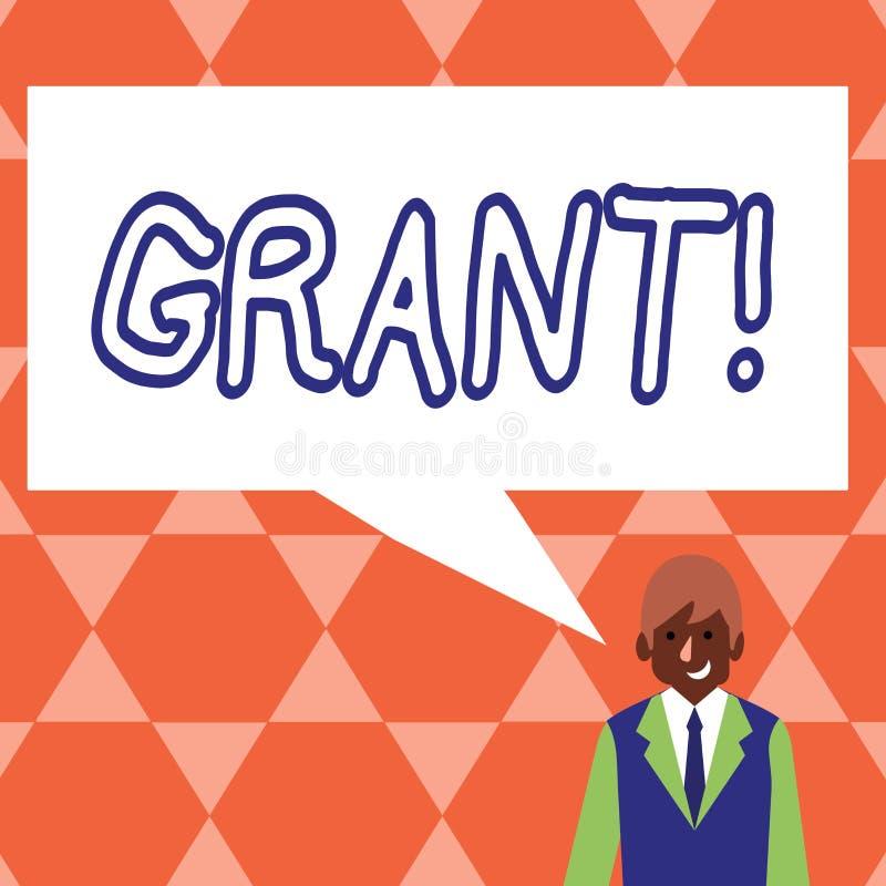 Handskrifttextlån Begrepp som betyder pengar som ges av en organisation eller en regering för ett avsiktstipendium vektor illustrationer
