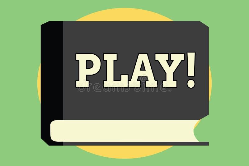 Handskrifttextlek Begreppsbetydelsen kopplar in i aktivitet för njutning och rekreation som har roliga vänner royaltyfri illustrationer