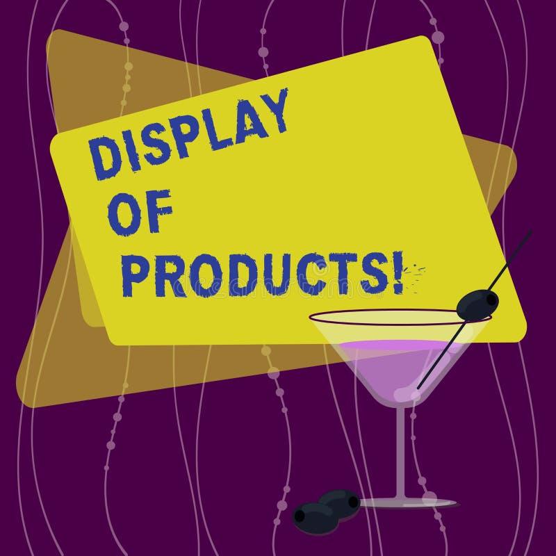 Handskrifttextskärm av produkter Begreppsbetydelseväg att tilldra och locka köpande allmänhet som använder den show fyllda coctai vektor illustrationer