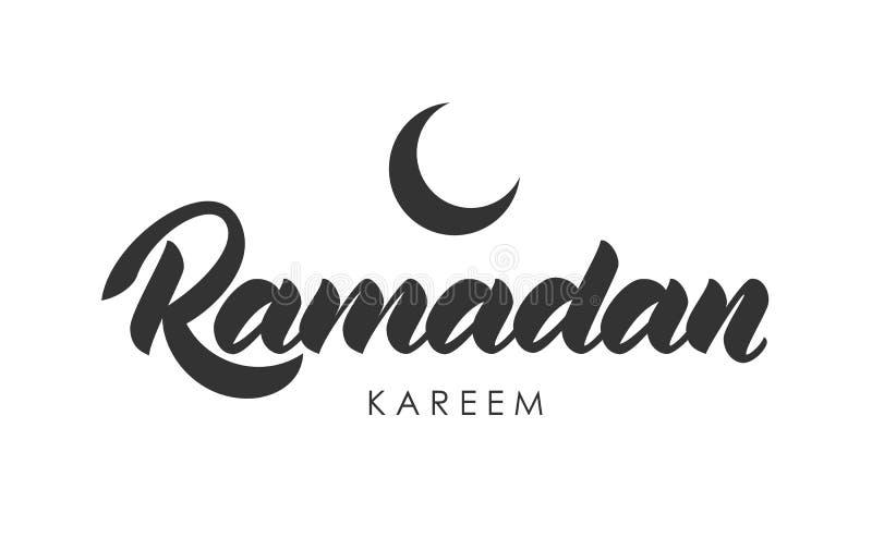 Handskriven bokstäver av Ramadan Kareem royaltyfri illustrationer