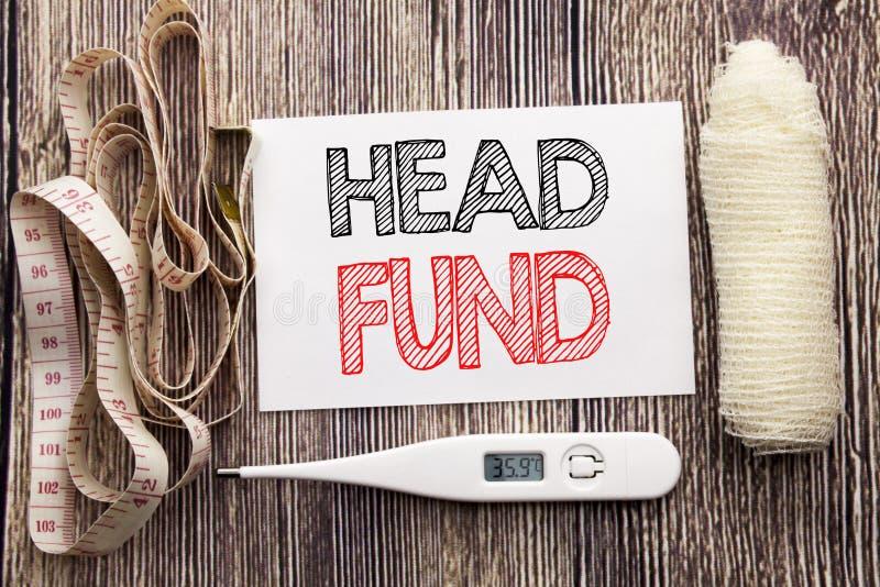 Handskriven fond för textvisninghuvud Handstil för begrepp för affärskondition vård- för empt för anmärkning för investeringfinan arkivbild