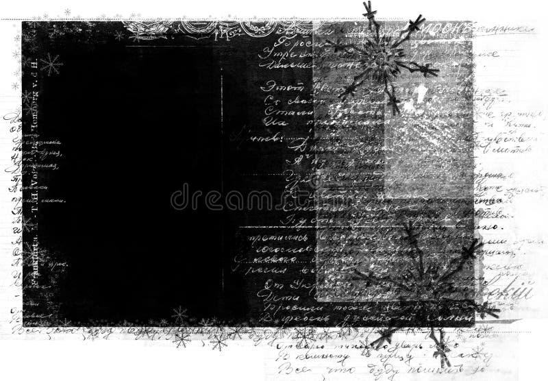 handskriven text för ramgrunge royaltyfri illustrationer
