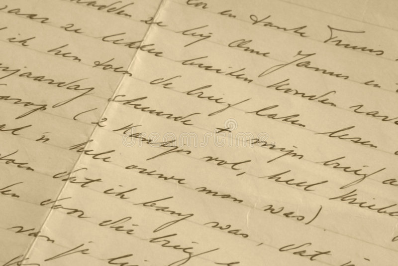 handskrivet royaltyfria bilder