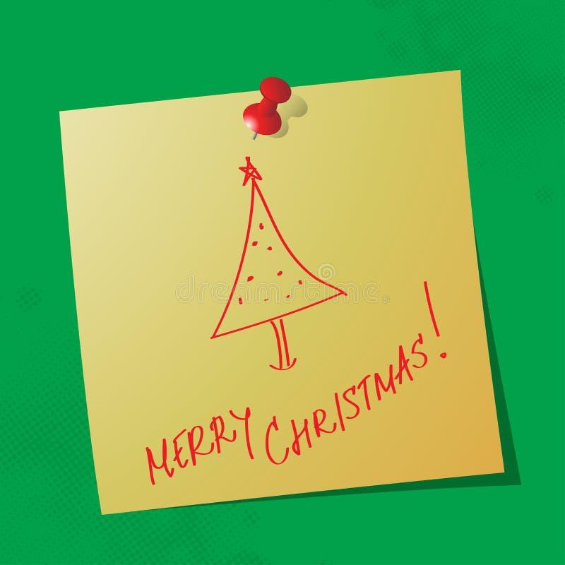 Handskrivet meddelande för glad jul royaltyfri fotografi