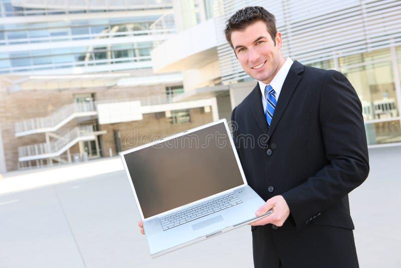 Handsoem Geschäftsmann stockfoto