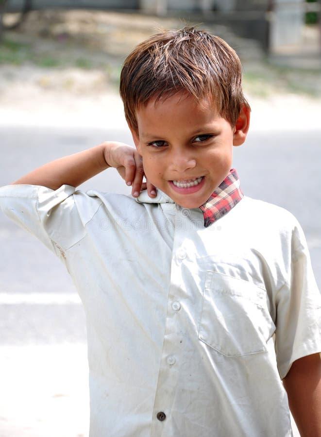 Handsom kid. Beautiful shot of smiling handsom indian kid royalty free stock photo