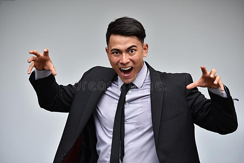 Scary Handsome Businessman royalty free stock images