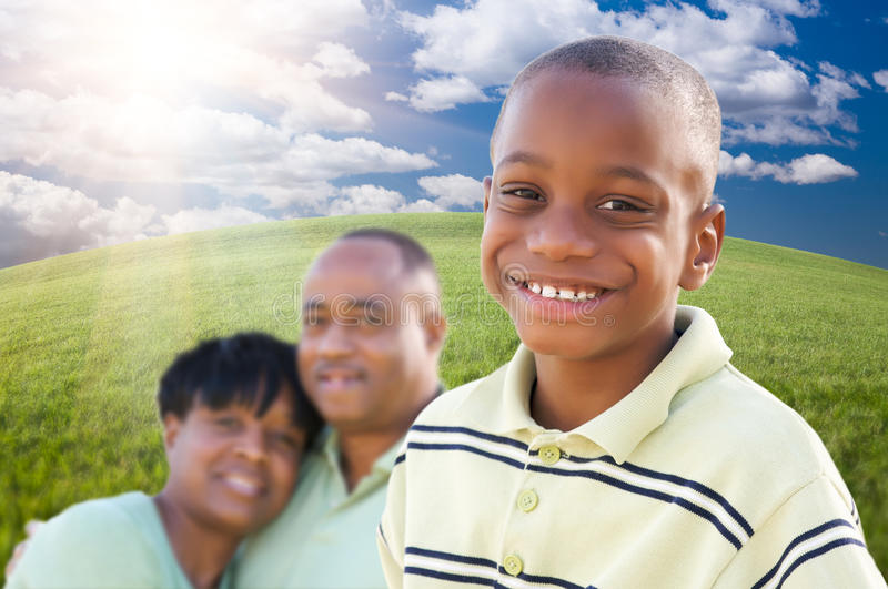 Download Handsome African American Boy With Parents Stock Image - Image: 14457811
