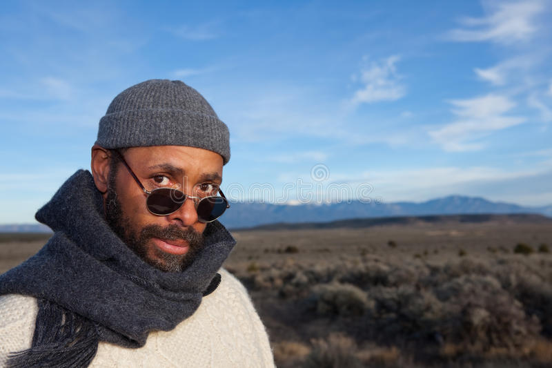 Download Handsome African American Man Stock Photo - Image of scarf, sunglasses: 26009964