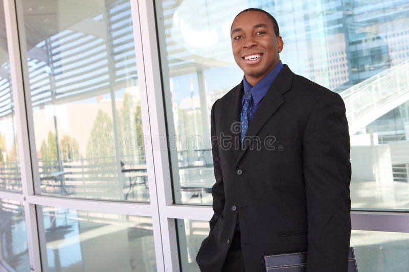 Handsome African Business Man royalty free stock photography