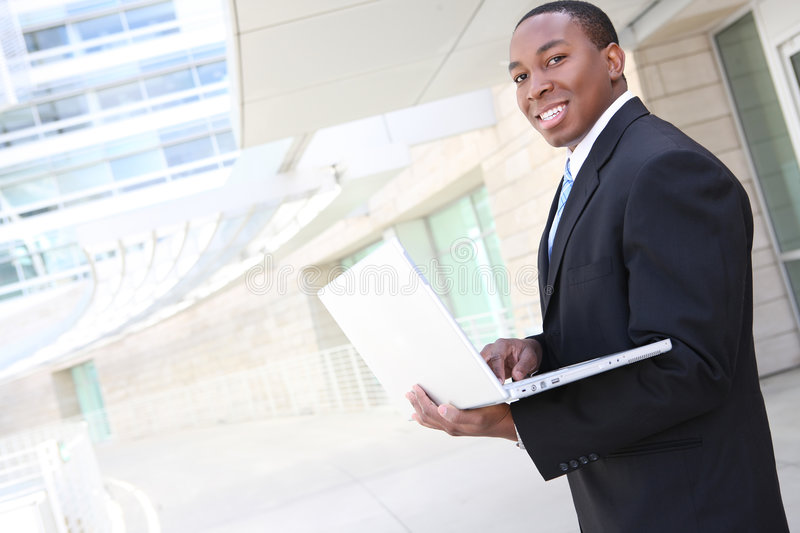 Handsome African Business Man royalty free stock photos