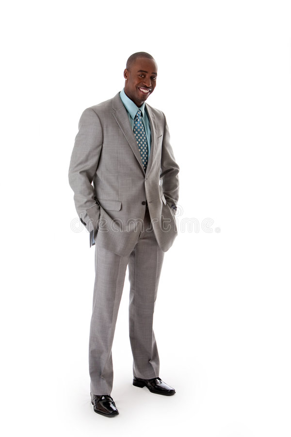 Handsome African business man stock images
