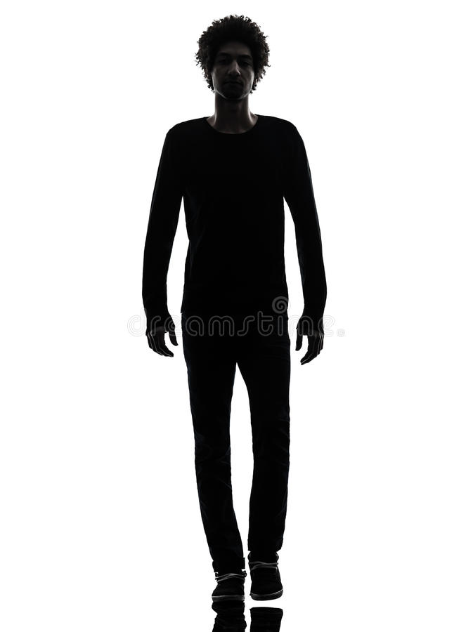 Free Handsome African Young Man Walking Silhouette Royalty Free Stock Photo - 29721375