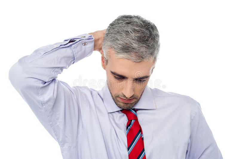 Handsome Aged Man Frustrated Royalty Free Stock Images