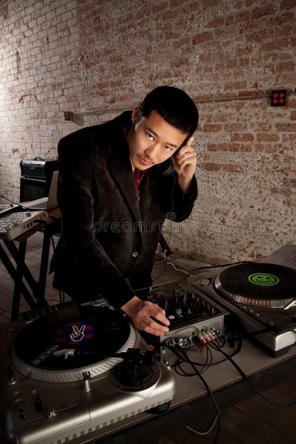 Handsome Asian DJ royalty free stock photo