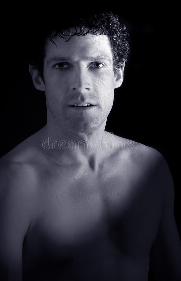 Download Handsome bare chested man stock photo. Image of caucasian - 10749214