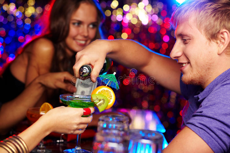 Handsome bartender royalty free stock photo