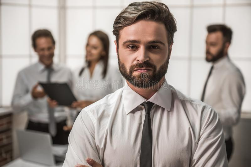 Business people working stock photography