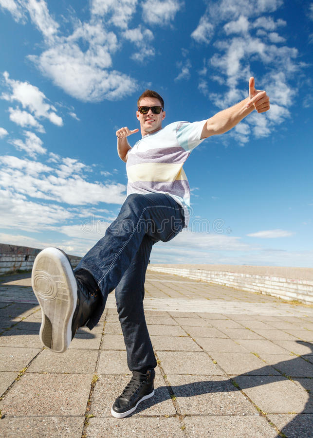 Download Handsome Boy Making Dance Move Stock Image - Image: 40043163
