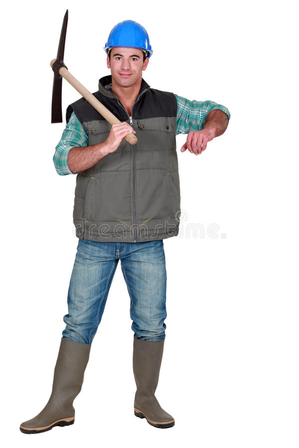 Download Handsome bricklayer stock image. Image of male, handyman - 28009325