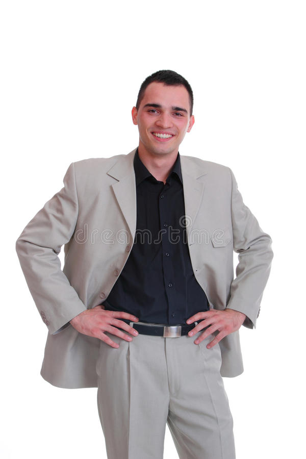 Handsome business man. Isolated over a white background royalty free stock photos