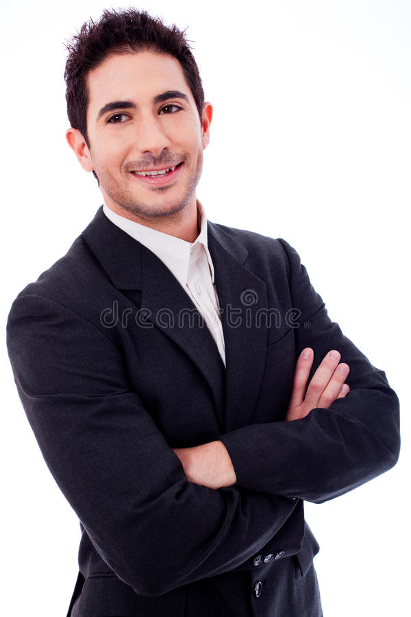 Download Handsome Business Man With His Hands Folded Stock Image - Image of hand, fold: 12265883