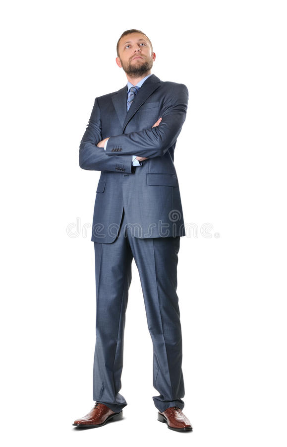 Handsome business man isolated