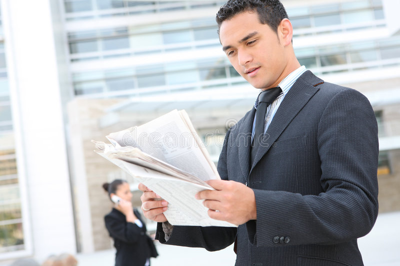 Download Handsome Business Man At Office Building Stock Image - Image: 5537133