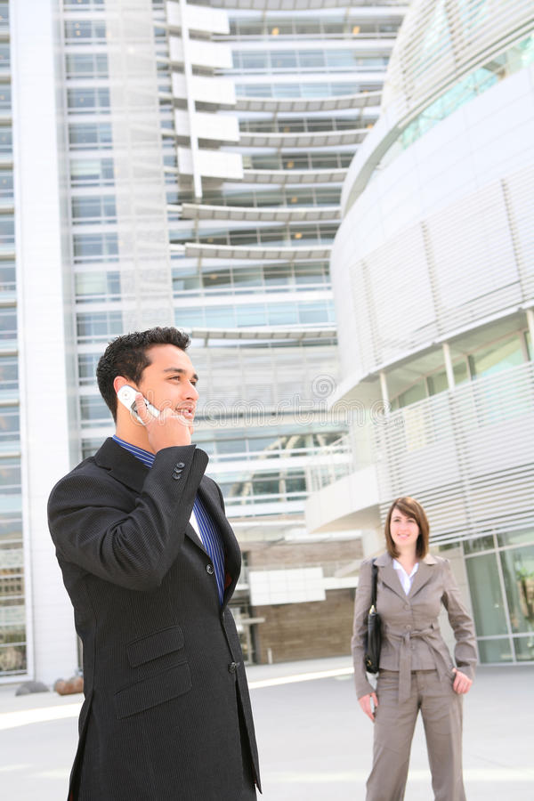 Handsome Business Man on Phone stock photos