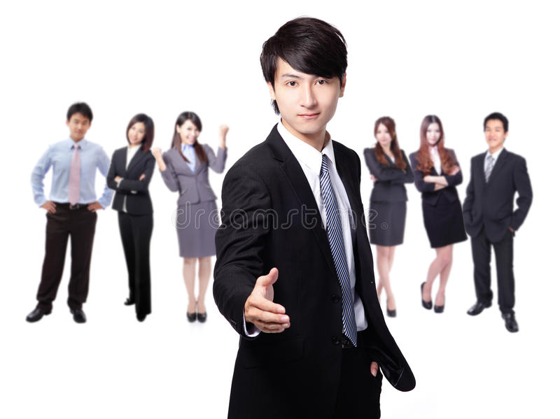 Download Handsome Business Man Smile Shake Hand Stock Photo - Image: 28526548