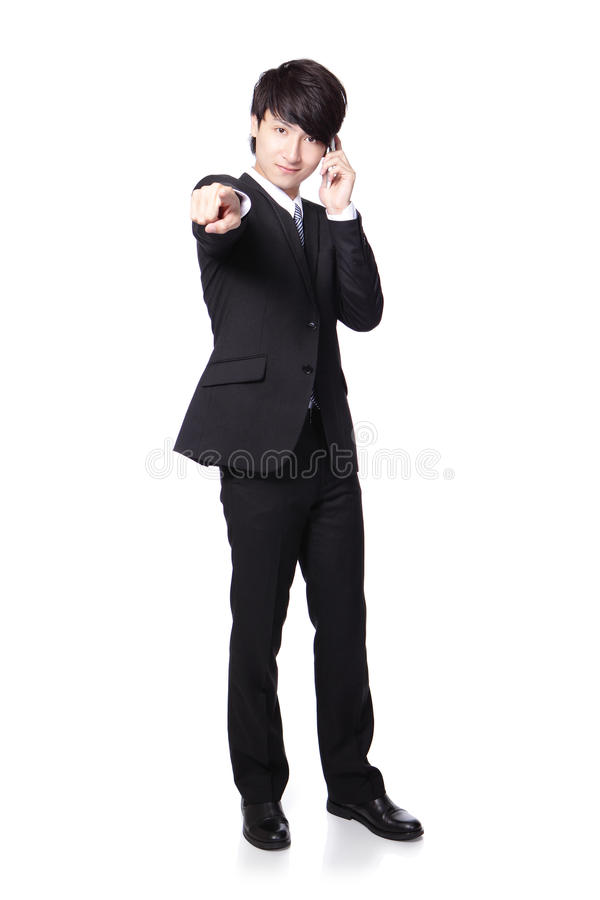 Handsome business man speaking mobile phone