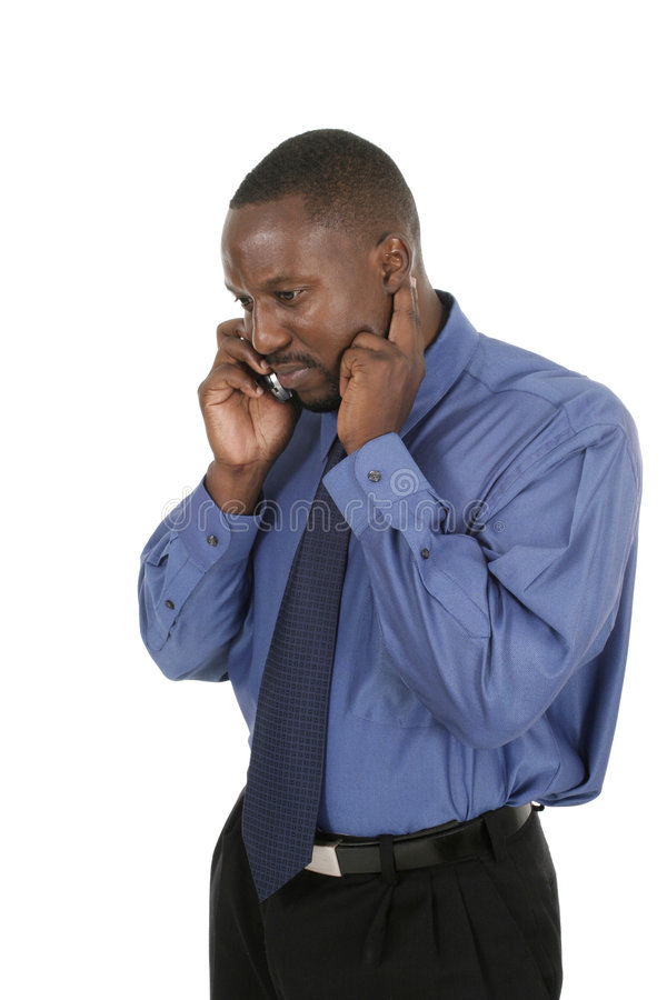 Download Handsome Business Man Takes A Cell Call Stock Image - Image: 1268039