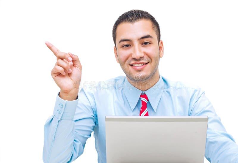 Download Handsome businessman stock image. Image of finger, show - 25396795