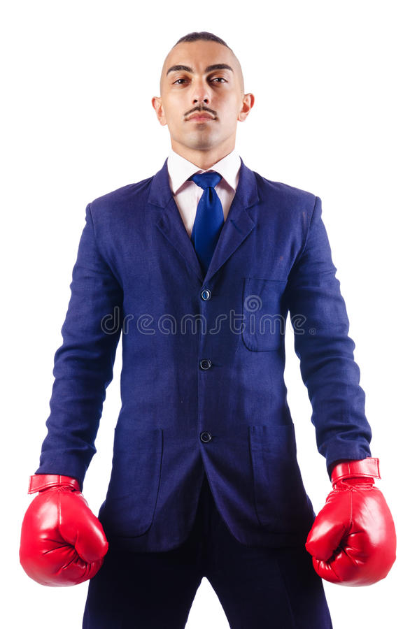 Download Handsome businessman stock photo. Image of isolated, kickboxing - 27316006