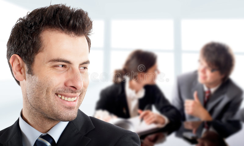 Handsome Businessman stock photography