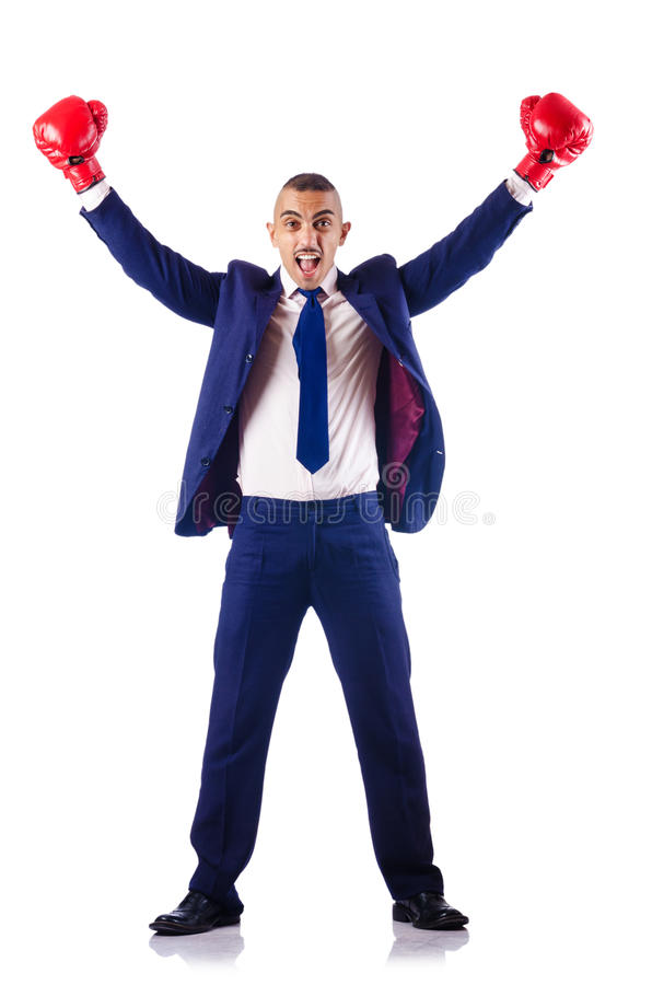 Download Handsome Businessman With Boxing Gloves Stock Photo - Image: 27171154