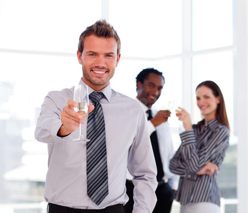 Download Handsome Businessman Celebrating A Success Stock Image - Image: 9758491