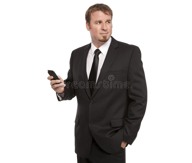 Handsome businessman with cell phone