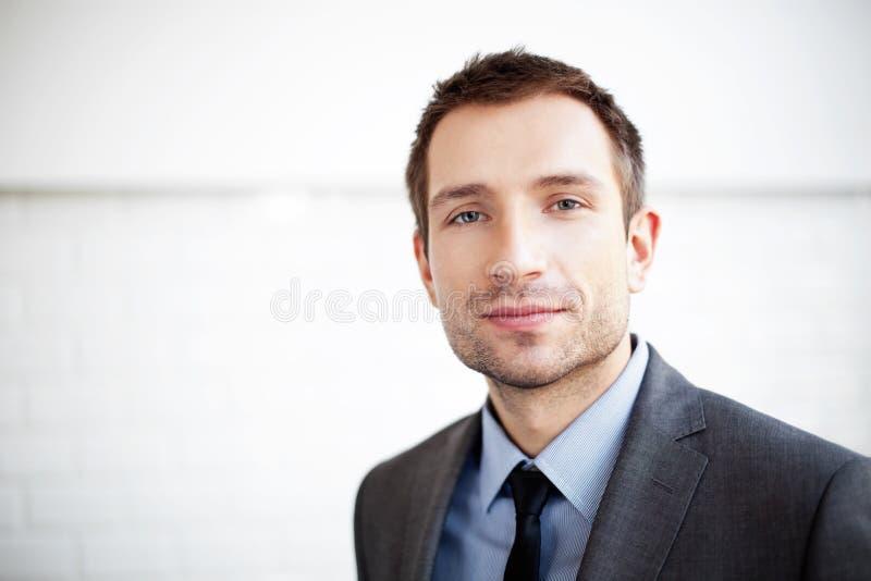Handsome businessman portrait royalty free stock photo