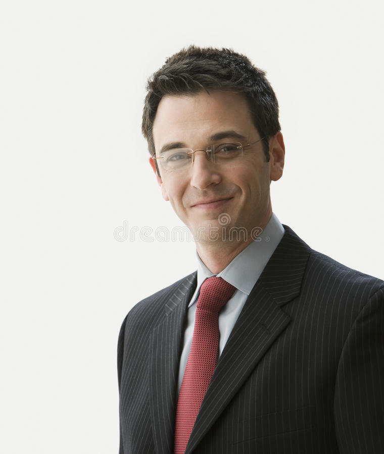 Handsome Businessman Smiling royalty free stock photography