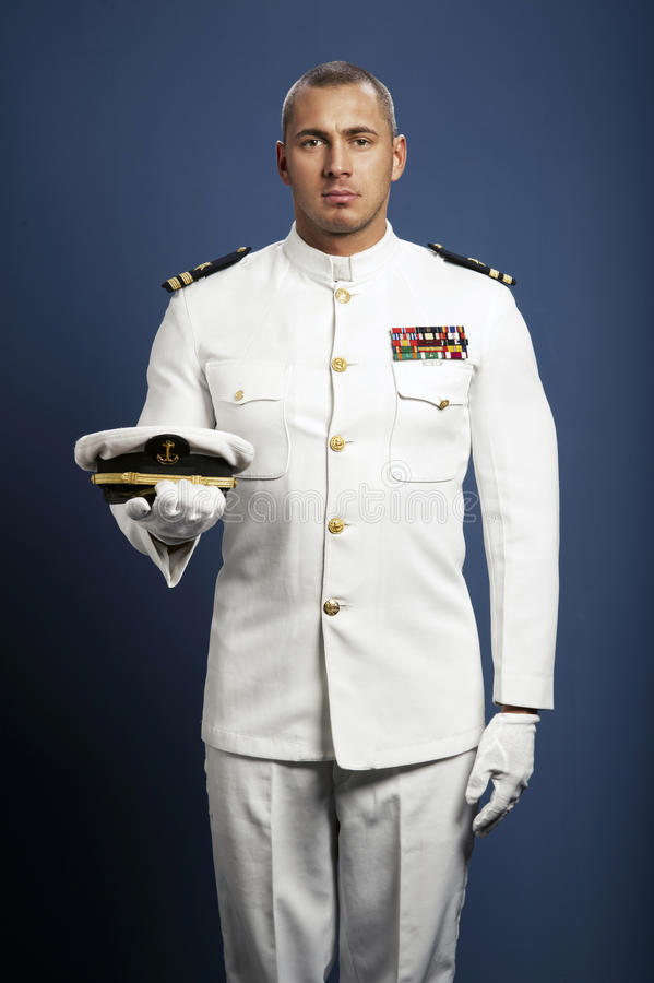 Free Handsome Captain Sea Ship Stock Photography - 39849072
