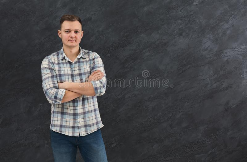 Handsome confident man portrait stock photos