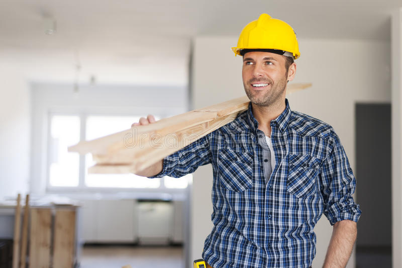 Handsome construction worker royalty free stock photography