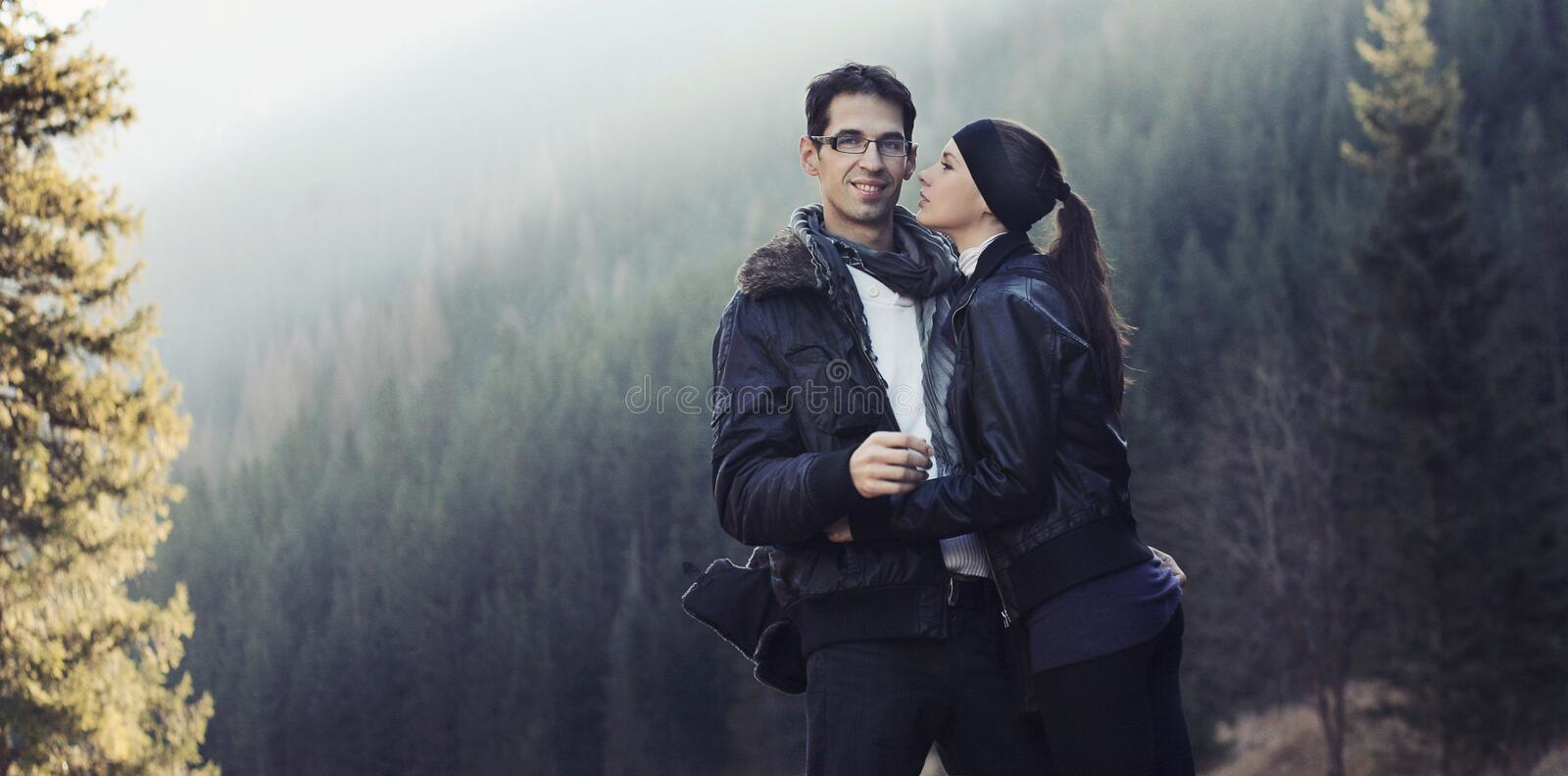 Handsome couple stock image