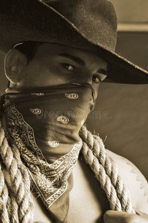 Handsome cowboy royalty free stock photos