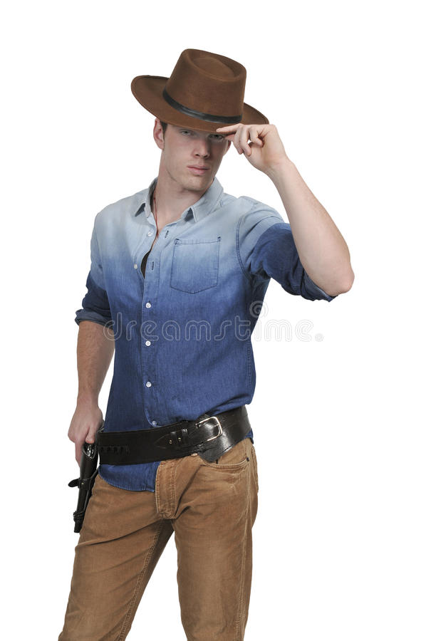 Handsome cowboy man stock images