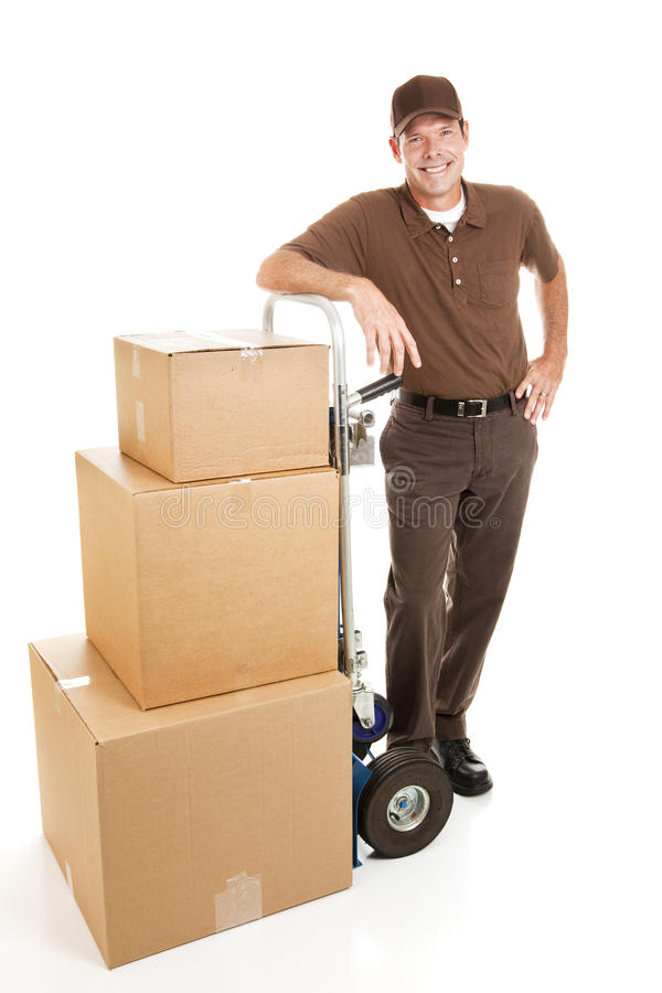 Free Handsome Delivery Man Or Mover Royalty Free Stock Photos - 11373518